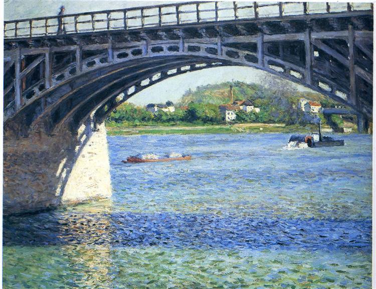 Pont d'Argenteuil, 1885 - Gustave Caillebotte
