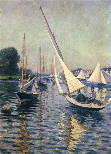 Regatta at Argenteuil, 1893 - Gustave Caillebotte