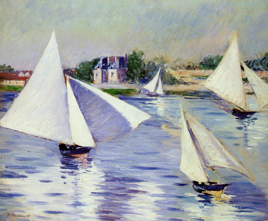 Sailboats on  the Seine at Argenteuil, 1892