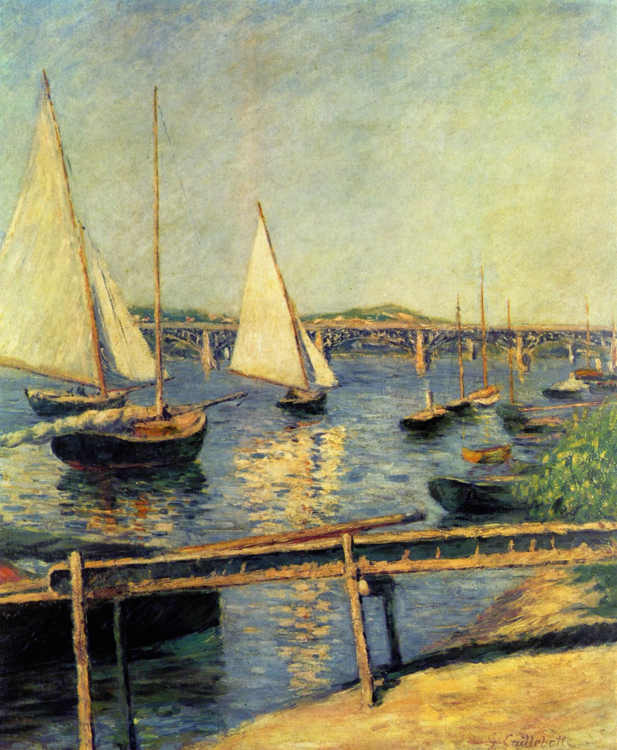 Sailing boats at Argenteuil, 1888