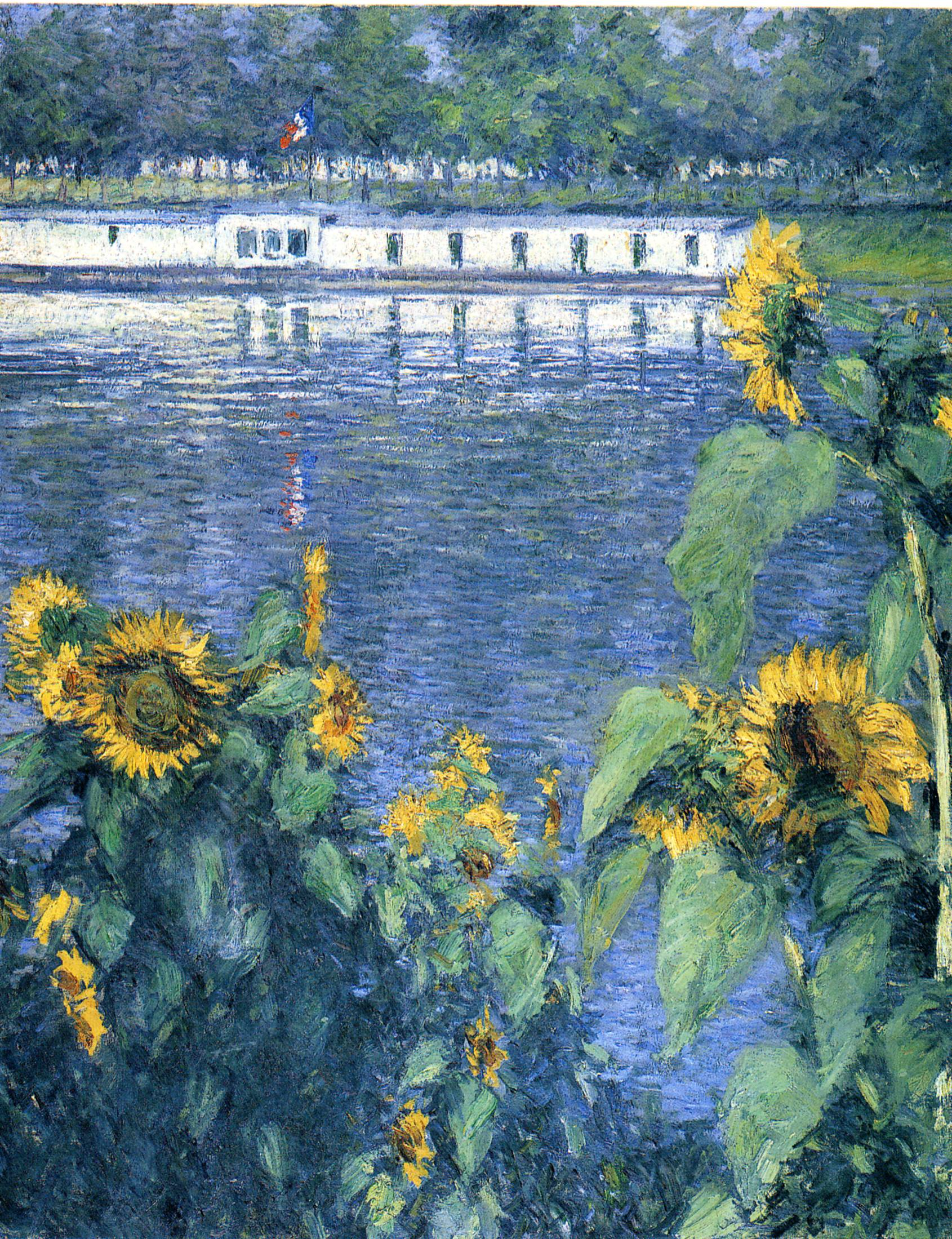 Sunflowers on the Banks of the Seine, 1886