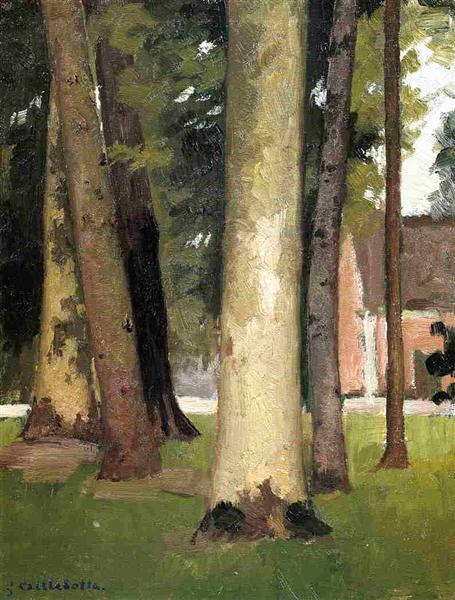 Yerres, Through the Grove, the Ornamental Farm, c.1871 - c.1878 - Gustave Caillebotte