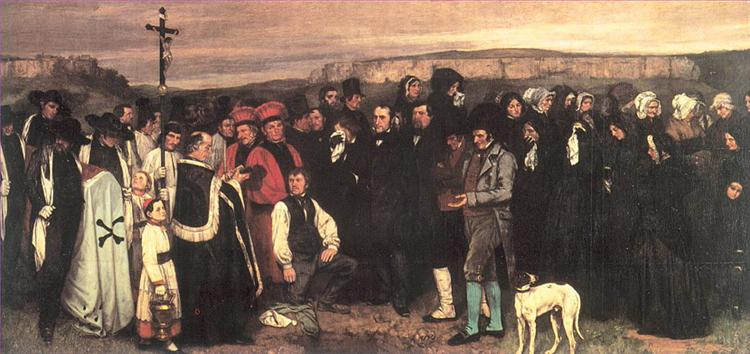 A Burial at Ornans - Gustave Courbet