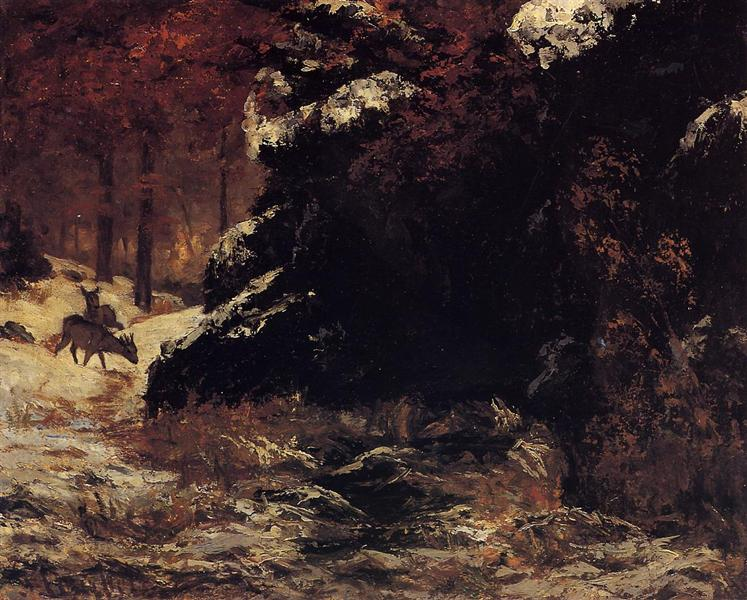 Deer in the Snow, 1865 - 1867 - Gustave Courbet