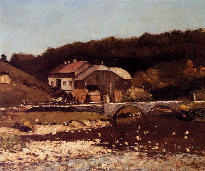 La Ferme De Bonnevaux - Gustave Courbet