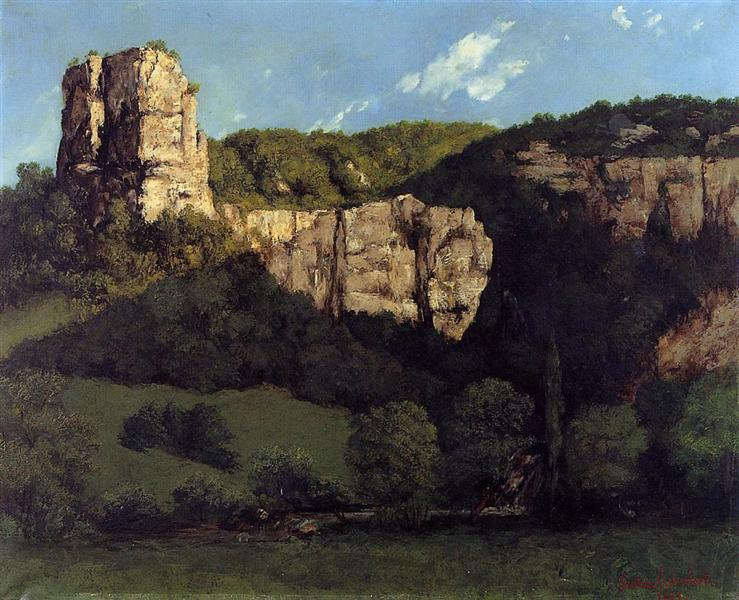 Landscape Bald Rock in the Valley of Ornans, 1864 - Gustave Courbet