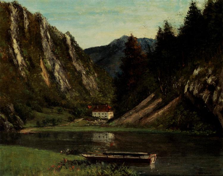 Les Doubs A La Maison Monsieur - Gustave Courbet