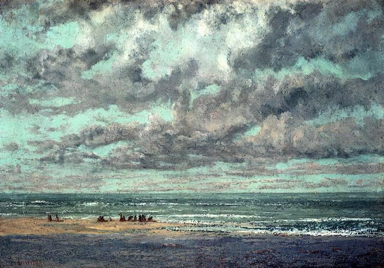 Marine Les Equilleurs - Gustave Courbet