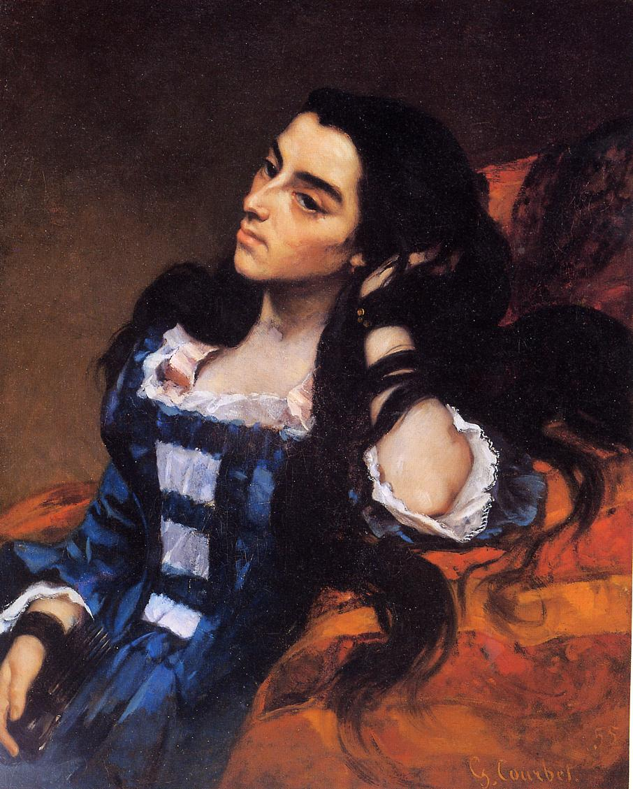 portrait of a spanish lady 1855 gustave courbet