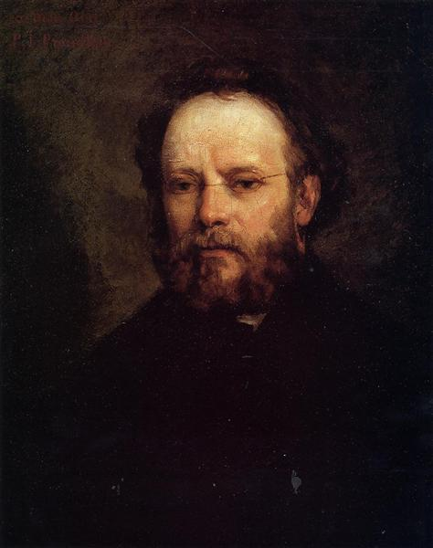 Portrait of Pierre Joseph Proudhon, 1865 - Gustave Courbet