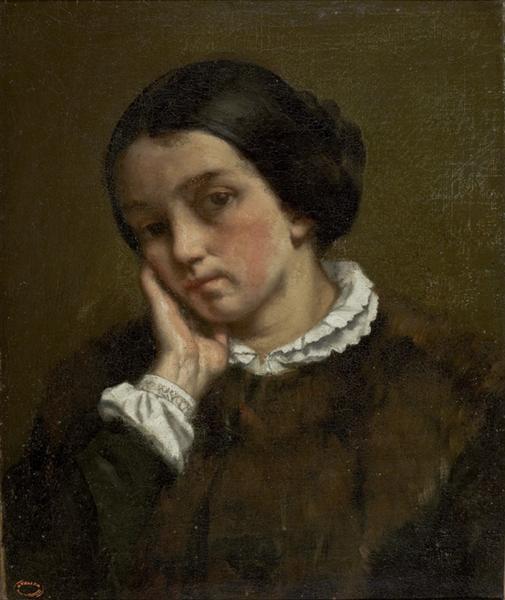 Portrait of Zélie Courbet, 1847 - Gustave Courbet