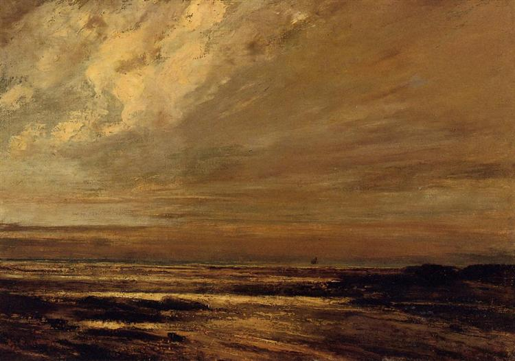 The Beach at Trouville at Low Tide, 1865 - Gustave Courbet