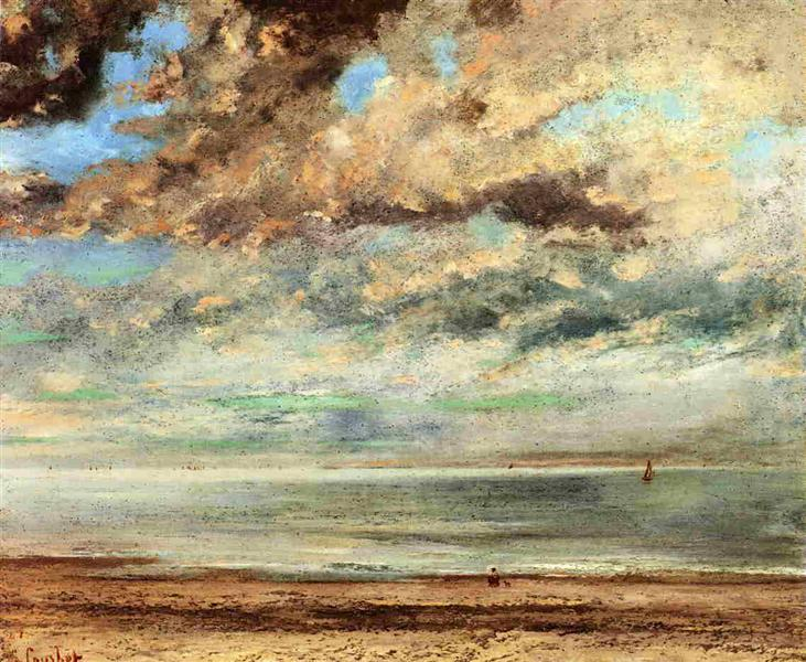 The Beach, Sunset, 1867 - Gustave Courbet