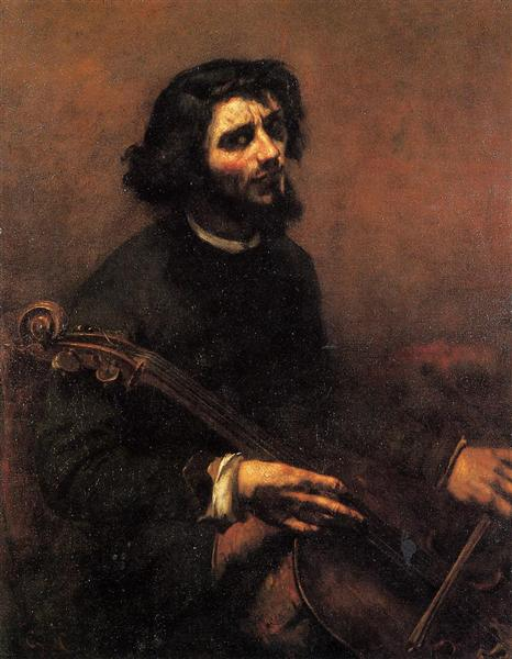 The Cellist, Self Portrait, 1847 - Gustave Courbet