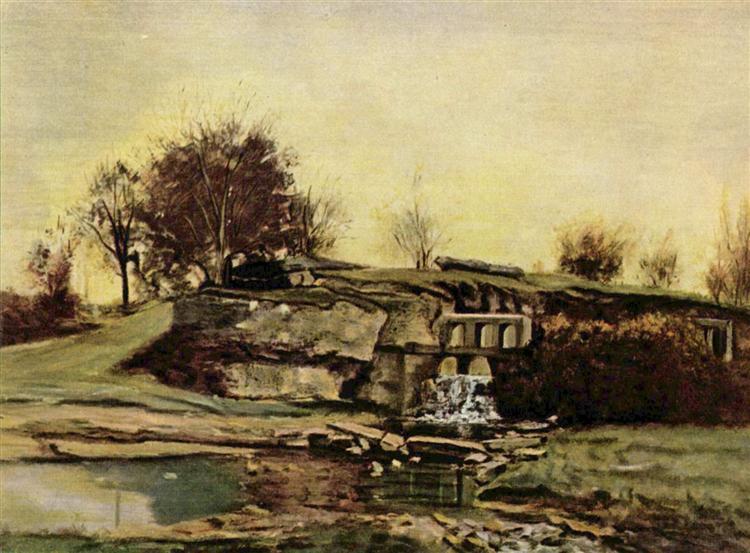 The Flood Gate at Optevoz, 1854 - Ґюстав Курбе