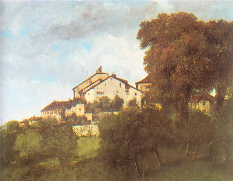 The Houses of the Chateau D'Ornans, 1853 - Gustave Courbet