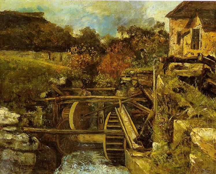 The Ornans Paper Mill, c.1865 - Gustave Courbet