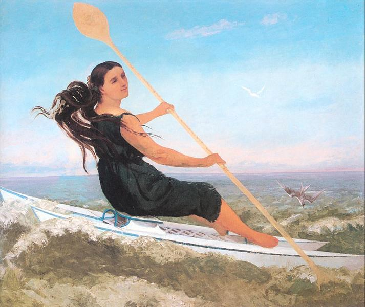 The Woman in a Podoscaphe, 1865 - Ґюстав Курбе