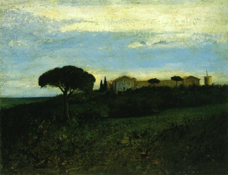 View of La Tour de Farges, 1857 - Gustave Courbet