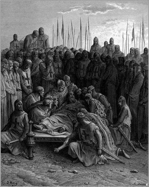 Death of Baldwin I the Latin King of Jerusalem, 1877 - Gustave Dore