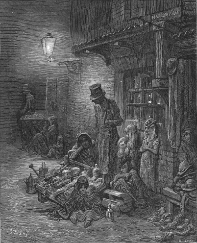 Houndsditch, 1872 - Gustave Dore