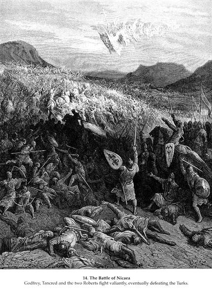 The Battle of Nicaea in 1097, 1877 - Gustave Dore