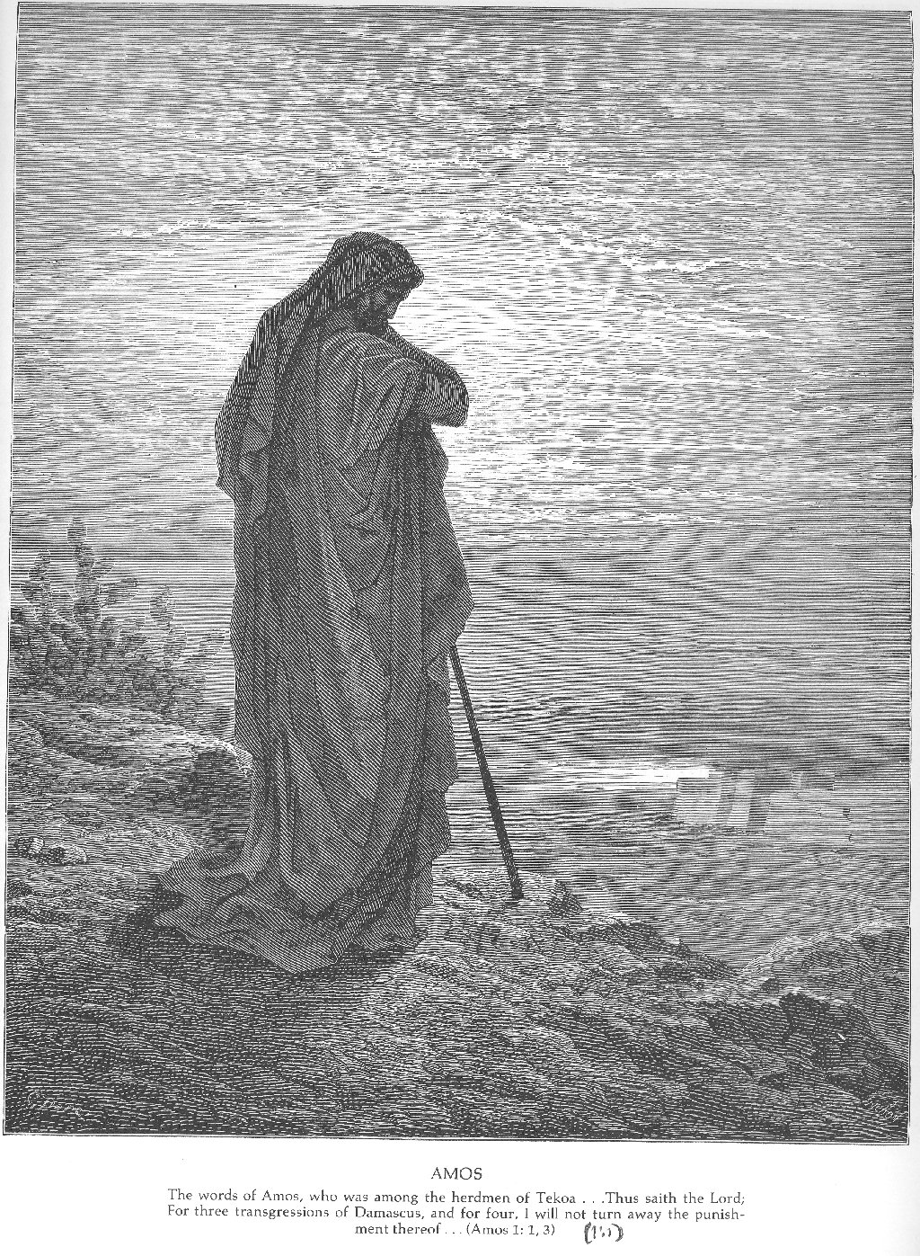 The Prophet Amos - Gustave Dore - WikiPaintings.