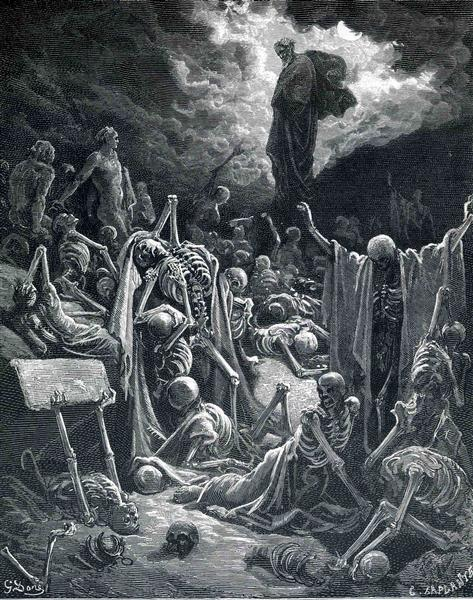 The Vision of the Valley of Dry Bones - Dore Gustave