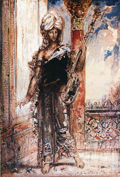 An Arabian Singer, 1884 - Gustave Moreau