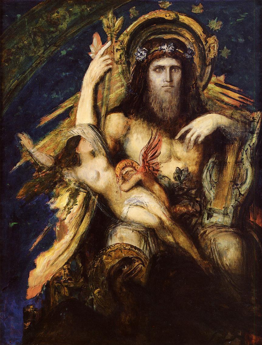 Jupiter and Semele - Gustave Moreau - WikiArt.org ...