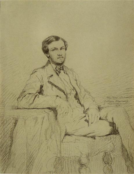 Portrait of Eugene `Lacheur, 1852 - Gustave Moreau