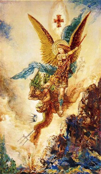 Saint Michael Vanquishing Satan, c.1882 - Gustave Moreau