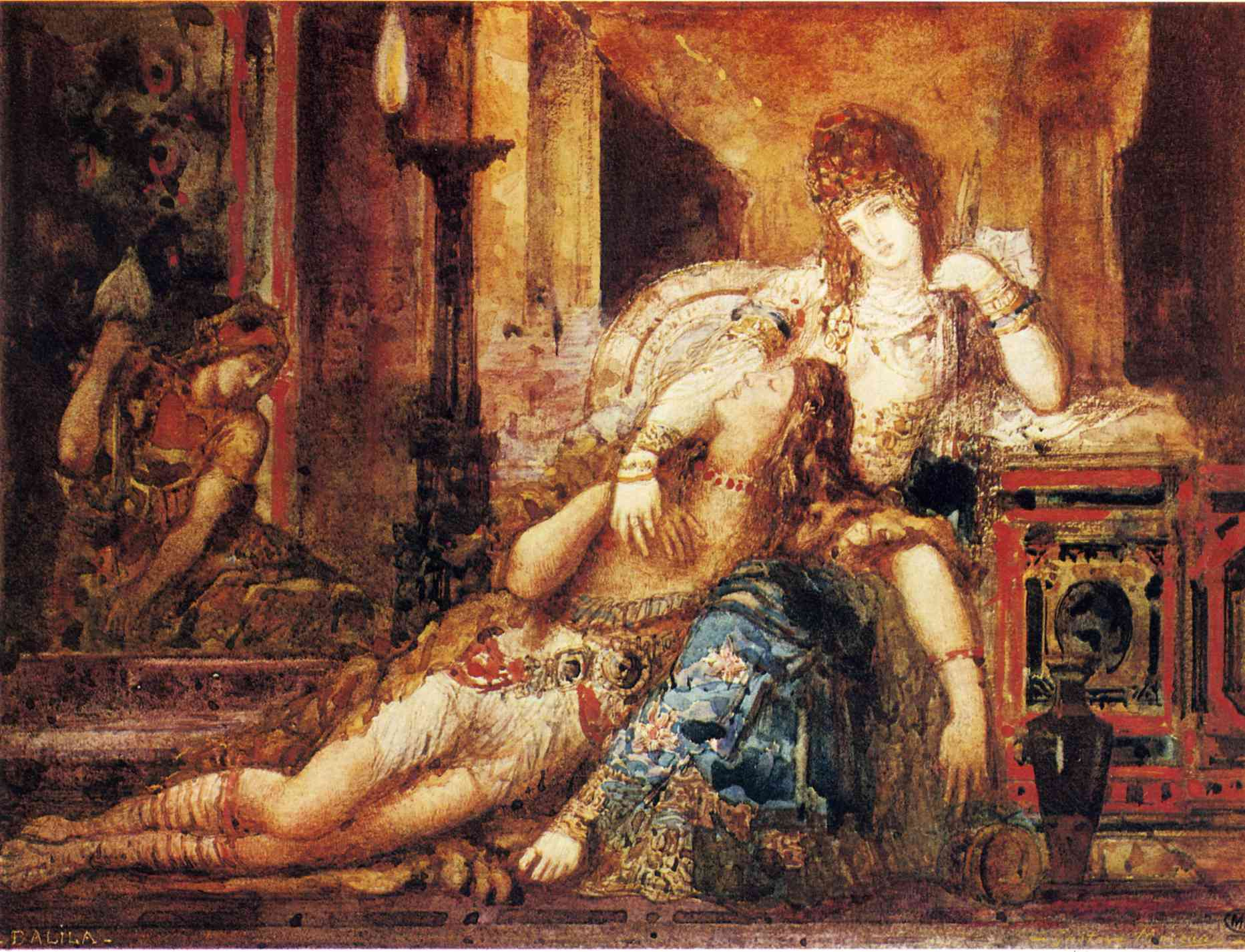 Samson and Delilah - Biblical Art on the WWW