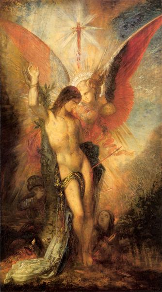 St. Sebastian and the Angel, 1876 - Gustave Moreau