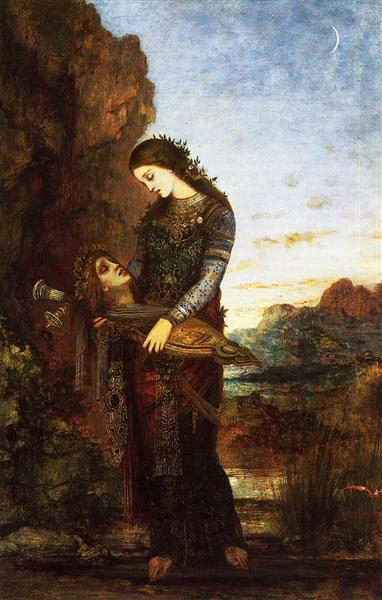 Young Thracian Woman Carrying the Head of Orpheus - Gustave Moreau
