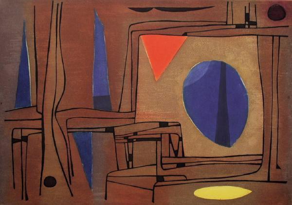 Paysage égyptien I, 1956 - Gustave Singier
