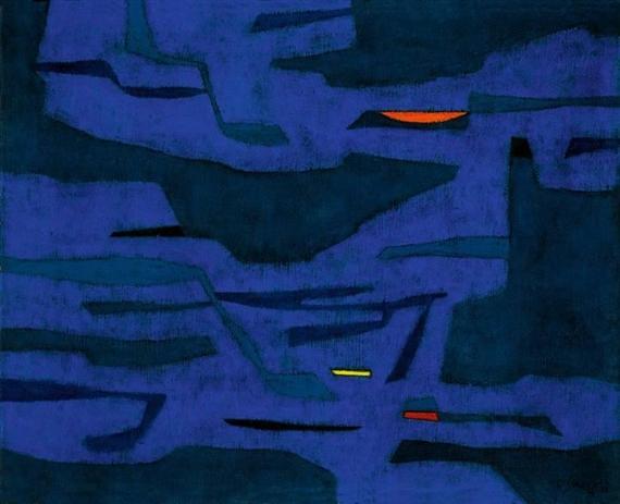 Provence - Port, Mistral, Nuit, 1958 - Gustave Singier