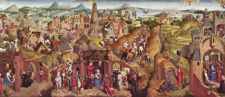 Scenes from the life of Mary, 1480 - Hans Memling