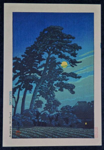 Full Moon at Magome, 1930 - Hasui Kawase