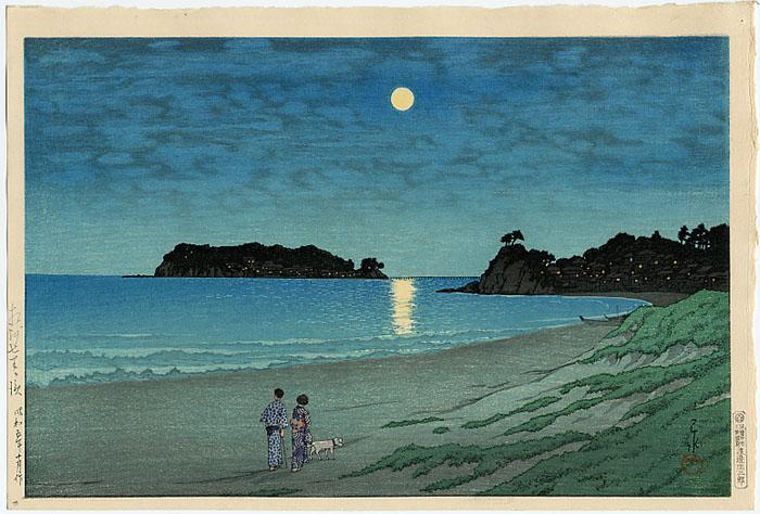 Shichirigahama, Soshu, 1930 - Hasui Kawase