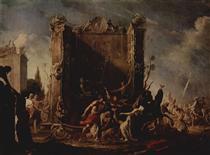 The Rape of the Sabines - Johann Heinrich Schönfeld