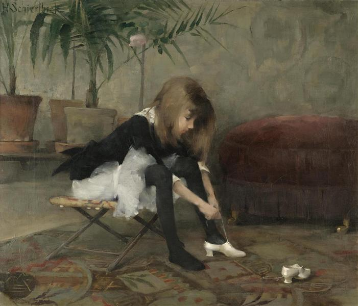 Dancing Shoes - Helene Schjerfbeck