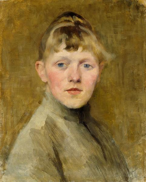 Self-Portrait, 1885 - Helene Schjerfbeck