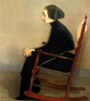 The Seamstress (The Working Woman), 1905 - Helene Schjerfbeck