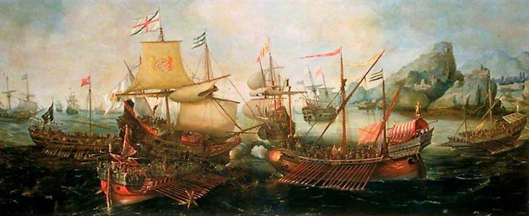 Attack on Spanish Treasure Galleys, Portugal, 1602 - Hendrick Cornelisz. Vroom