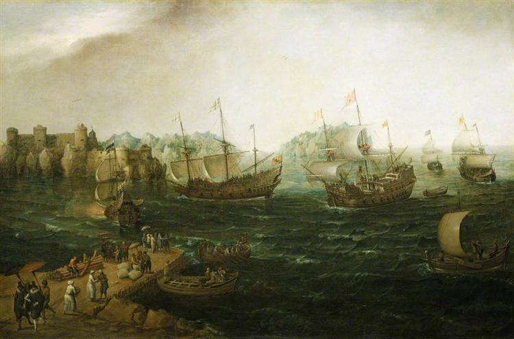 Ships Trading in the East, 1614 - Hendrick Cornelisz Vroom