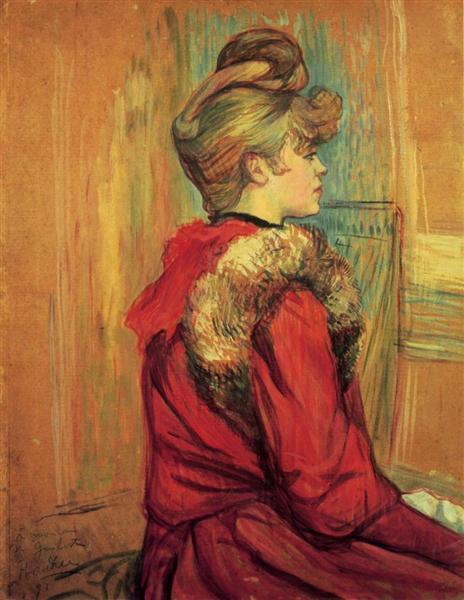 Girl in a Fur, Mademoiselle Jeanne Fontaine, 1891 - Анри де Тулуз-Лотрек