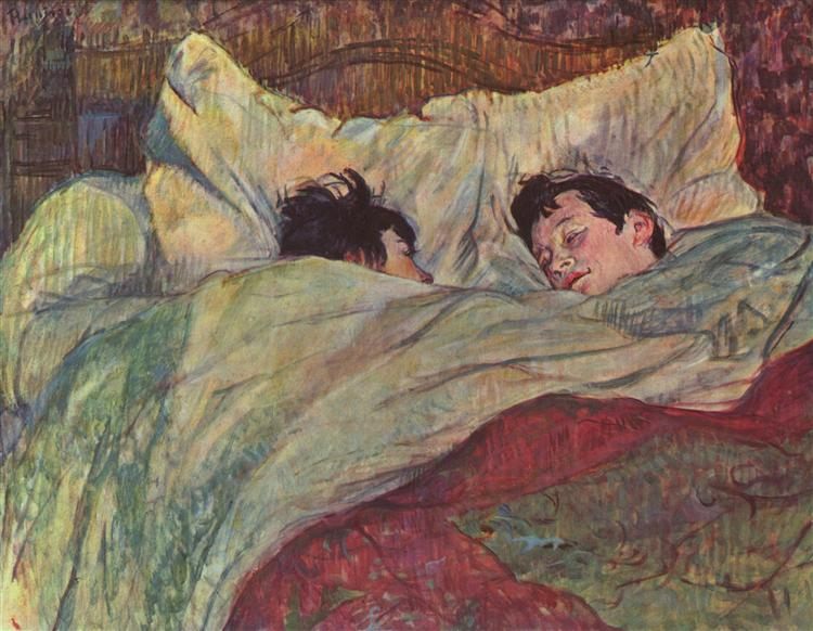 In bed, 1893 - Henri de Toulouse-Lautrec