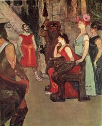 Messalina Seated - Henri de Toulouse-Lautrec