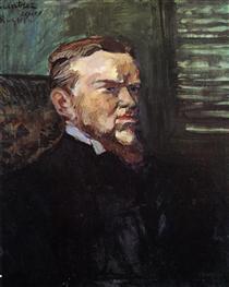 Portrait of Octave Raquin - Henri de Toulouse-Lautrec